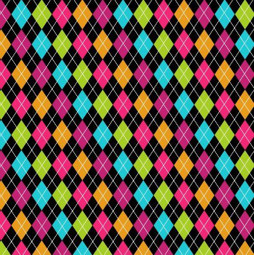 Argyle Pattern Multi Colors