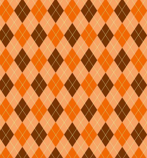 Argyle Pattern Orange Brown