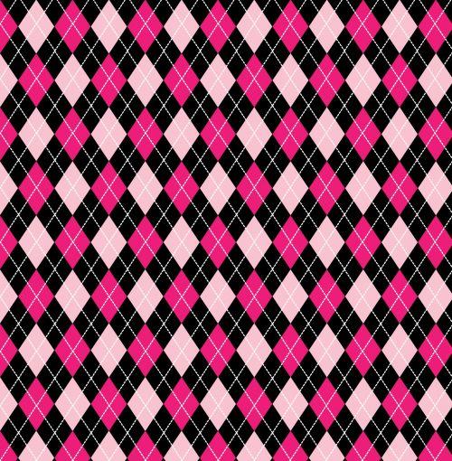 Argyle Pattern Pink Black