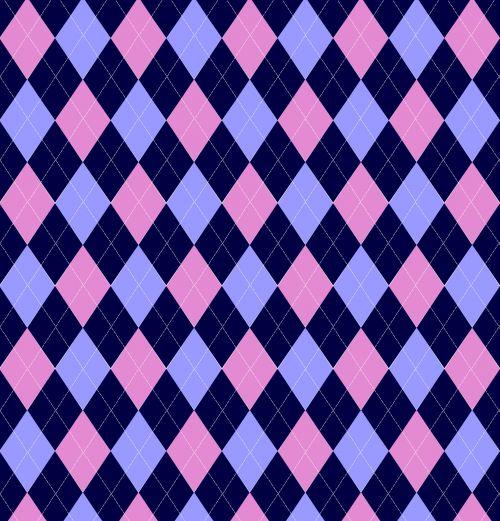 Argyle Pattern Pink Blue