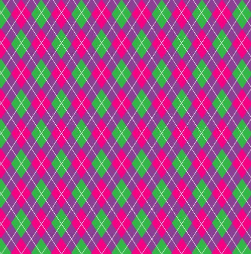 Argyle Pattern Purple Pink
