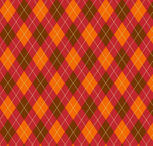 Argyle Pattern Red Brown