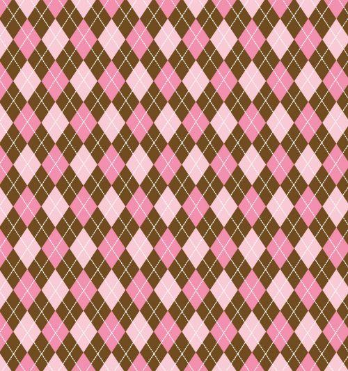 Argyle Pink Brown Background