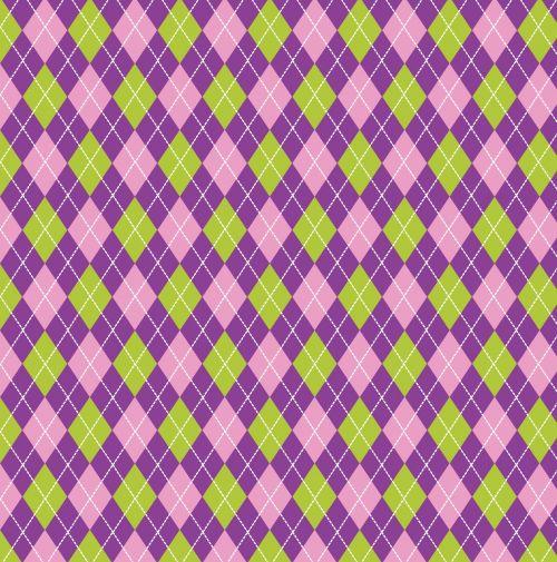 Argyle Purple Green Background