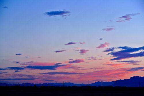 Arizona, saulėtekis, kalnai, saulė, dykuma, kraštovaizdis, gamta, arizonos saulėtekis
