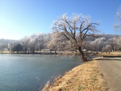 arkansas lake winter