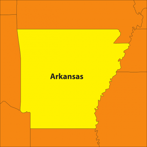 arkansas map geography