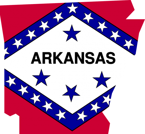 arkansas flag map