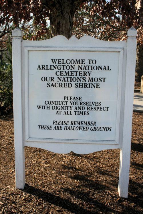 Arlington National Cemetery Sign
