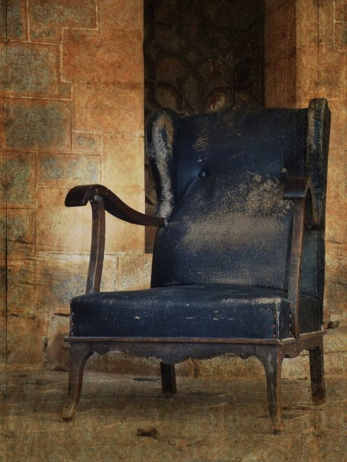 armchair seat abandoned