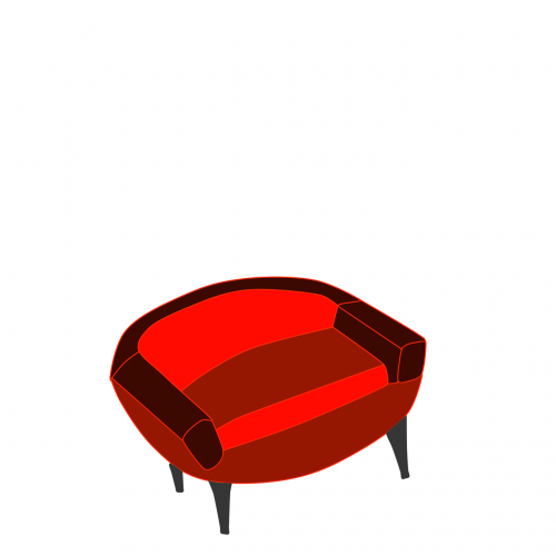 armchair red illustration