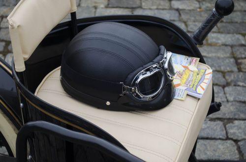 armchair leather helmet