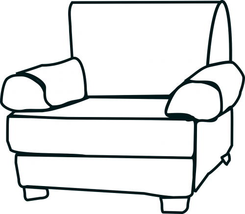 armchair big white