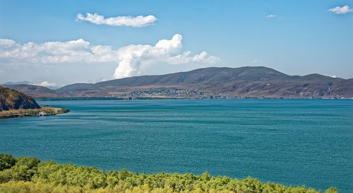 armenia  lake sevan  landscape