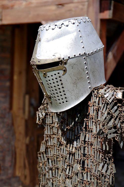 armor hauberk helmet