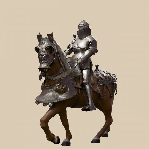 armour knight horse