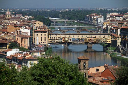 arno river ponte vecchio florence