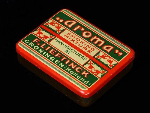 aromatas, rūkymas, mišinys, produktas, dėžė, paketas, senas, retro
