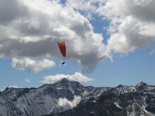 arosa paragliders glide glider switzerland