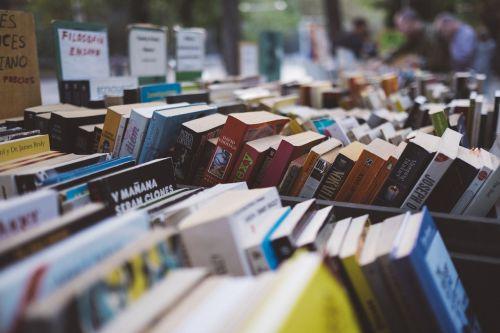 arranged books bookshop