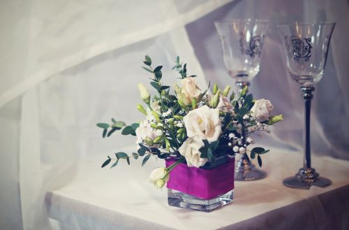 arrangements flower glass