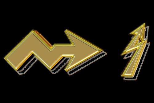 arrow gold gilded