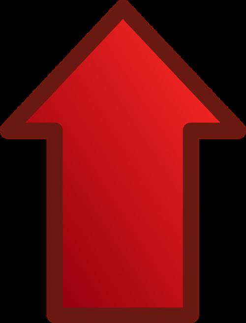 arrow red glossy