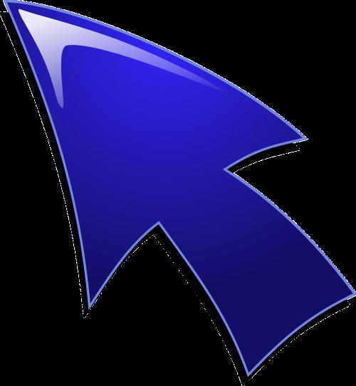 arrow blue glossy