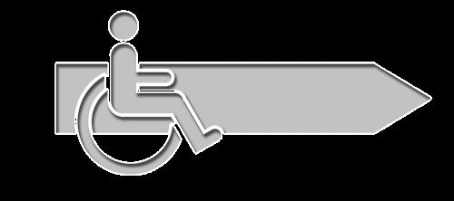 arrow direction wheelchair