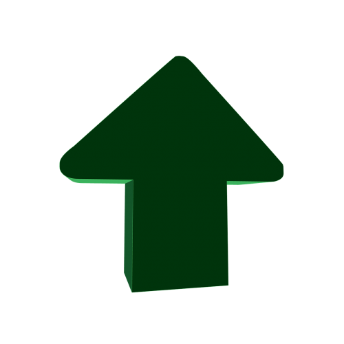 arrow the direction of the 3d green