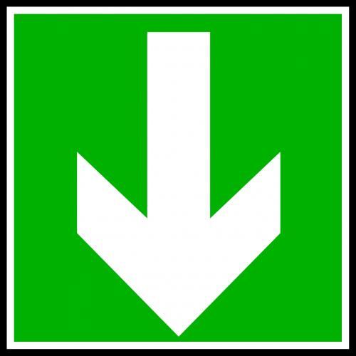 arrow down direction