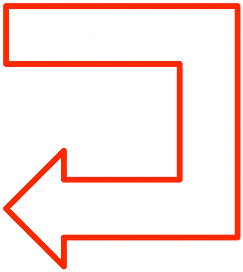 arrow flowchart symbol