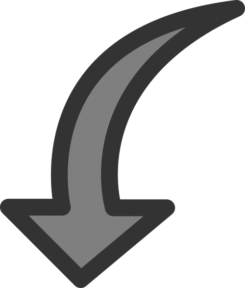 arrow down rotate