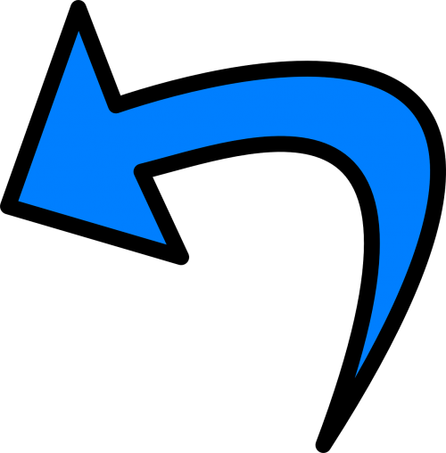 rodyklė,pasukti,ccw,kairėje,pasukti,mėlynas,nemokama vektorinė grafika