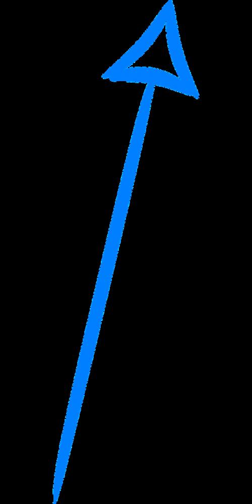 arrow up blue