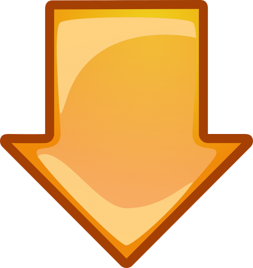 arrow down orange