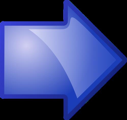 arrow blue pointing