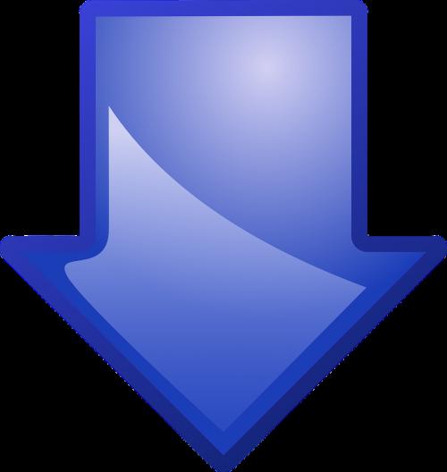 arrow blue down