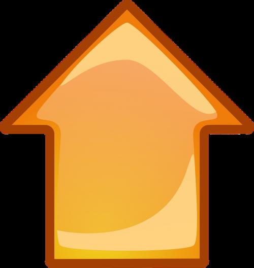 arrow upwards facing
