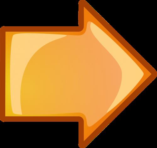 arrow right orange