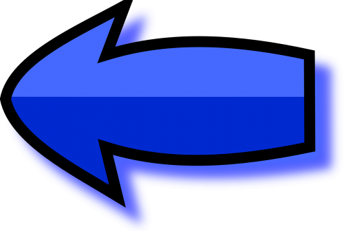 arrow blue left