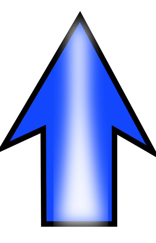 arrow up blue