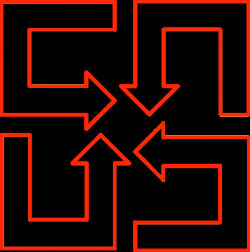 arrow shapes rotation