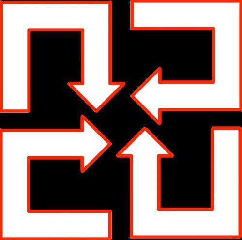 arrow set u-shaped