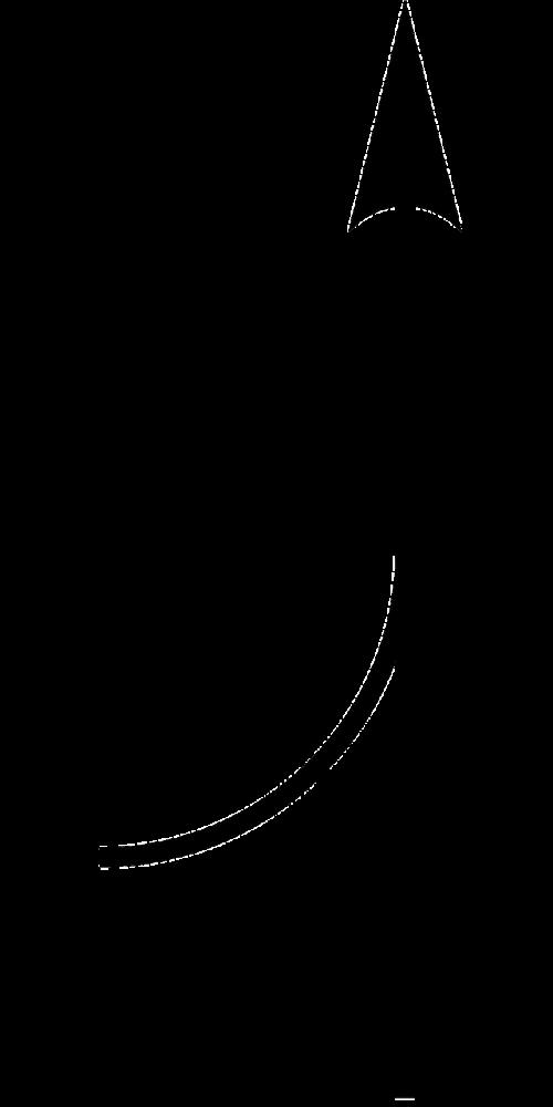 arrow up line