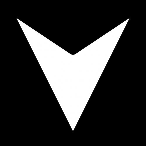 arrow down triangle