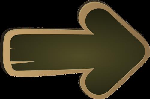 arrow directional board