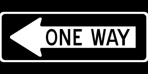 arrow one way left