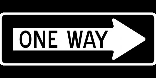 arrow one way right