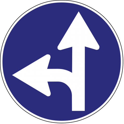 arrow direction road sign